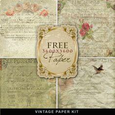 Freebies Vintage Style Paper Kit