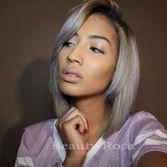 45.00$ Watch here - http://aliuaf.worldwells.pw/go.php?t=32585680413 - Clearance sales ombre black to gray short bob wig synthetic hair glueless lace front wig for cosplay woman in large stocks 45.00$