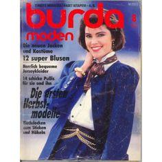 1986 magazine | 1986 Burda Moden, German, August, 1986
