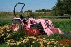PINK TRACTOR!!!! Pink Tractor, Pink Things, Skates, Country Girls, Pretty In Pink, Tractors, Favorite Color, Ranch, Transportation
