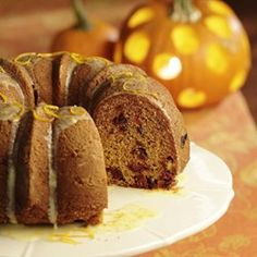 Pumpkin Cake with Dried Cranberries - EatingWell.com