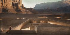 Santuários escavados de Wadi Rum por Rasem Kamal