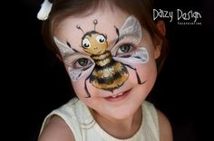 Face Painting by Daizy Design. Hire a professional face and body painter, Christ. - Face Painting by Daizy Design. Hire a professional face and body painter, Christy Lewis, for your n - Girl Face Painting, Face Painting Designs, Painting For Kids, Paint Designs, Painting Patterns, Painting Art, Bumble Bee Face Paint, Animal Face Paintings, Too Faced