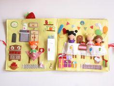 Óriás szülinapi torta játszókönyvecske-hasonló rendelhető!, Baba-mama-gyerek, Játék, Baba, babaház, Készségfejlesztő játék, Meska