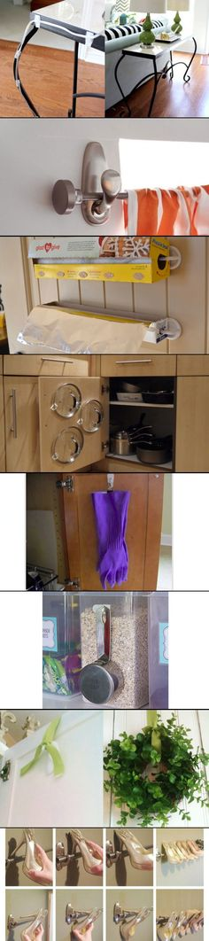 from  15 Brilliant Things You Can Do with 3M Command Hooks - http://lifehacker.com/15-brilliant-things-you-can-do-with-command-hooks-1355369802?utm_campaign=socialflow_lifehacker_facebook&utm_source=lifehacker_facebook&utm_medium=socialflow