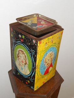 Vintage confectionery tin
