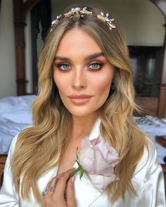 Always a privilege to do bridal makeup for a friend. Here's to a life together as beautiful as you are. Congratulations Chloe Lloyd &… - Summer Make-Up Summer Wedding Makeup, Wedding Makeup For Brown Eyes, Wedding Makeup Tips, Natural Wedding Makeup, Wedding Beauty, Bridal Makeup For Blondes, Bridal Makeup Looks, Bride Makeup Blonde, Beauty Make-up