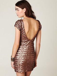 sparkle dress- not a fan of the color but love this dress. FP sequin fever bodycon dress $168.00