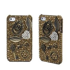 Amazon.com: Copper/Bronze Vintage Handmade Crystal & Rhinestone Iphone 4 case/cover by Jersey Bling: Cell Phones & Accessories