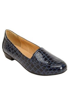 Comfortview Women's Wide Devon Flat Navy,11 W ** You can find more details by visiting the image link.