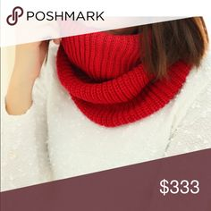 MUST BUNDLE⚡️ sale infinity scarf Red  I try to catch the color that best reflects color of item. There may be a slight color difference. BOUTIQUE ITEMS MAY OR MAY NOT HAVE A TAG, BUT ARE NEW SHIPPED FROM VENDOR. Accessories Scarves & Wraps