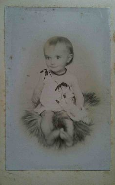 Little Elf with Doll cdv by smokey lace, via Flickr