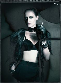 Actress Eva Green by Paolo Roversi in Interview magazine, May 2011