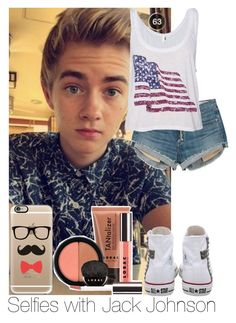 """Selfies with Jack Johnson"" by irish26-1 ❤ liked on Polyvore featuring rag & bone, Converse, Casetify and LORAC"