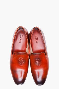 Fancy - Alexander McQueen Tan Leather Dress Shoes for Men   SSENSE - love a man who can rock these!