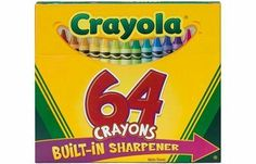 Crayola Crayons 64/Pkg by CRAYOLA. $6.77. Crayola Crayons are packaged in different size boxes and packages. Comes with 64 different colors. So your kids will have every color they could possibly need, choose this set.