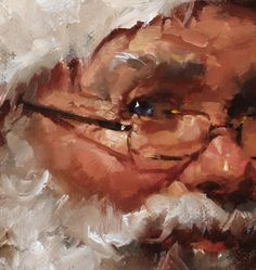 This is a new Santa painting I finished last week.  At my insistence, I asked Erik to photograph it for me.  He understands the process of...
