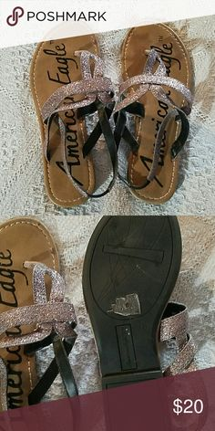 Sandals They sparkle a lot it's hard to pinpoint the actual because it's actually all different colors American Eagle by Payless Shoes Sandals