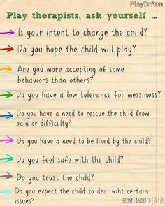 QUESTIONS CHILD-CENTERED PLAY THERAPISTS SHOULD ASK THEMSELVES …
