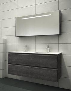 120 smoke med speilskap Decor, Furniture, Bathroom Lighting, Vanity, Lighted Bathroom Mirror, Home Decor, Bathroom Mirror, Bathroom Vanity, Bathroom