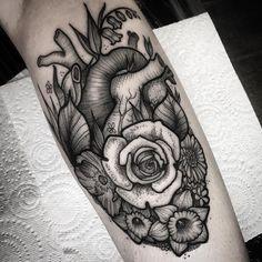 Flower heart- ace fun doing this piece! Jaymsbutler@hotmail.com #blackworkerssubmission #blackworktattoo #blackwork #blacktattooart #btattooing #tattoosnob #tattooworkers #tattooistartmagazine #leedstattoo #leeds