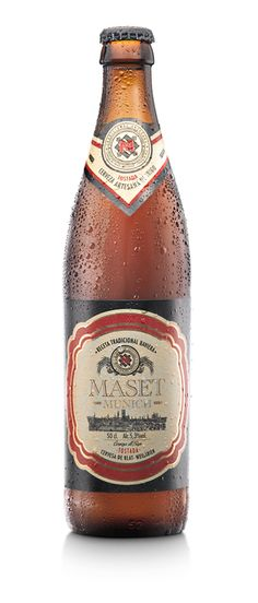 Cerveza Maset Munich Tostada. Receta tradicional de Baviera  En su afán de elaborar una cerveza artesanal perfecta, Maset ha seleccionado a los mejores cerveceros del mundo para colaborar junto con sus enólogos, en la elaboración de una nueva cerveza que al mismo tiempo aúne tradición y calidad.