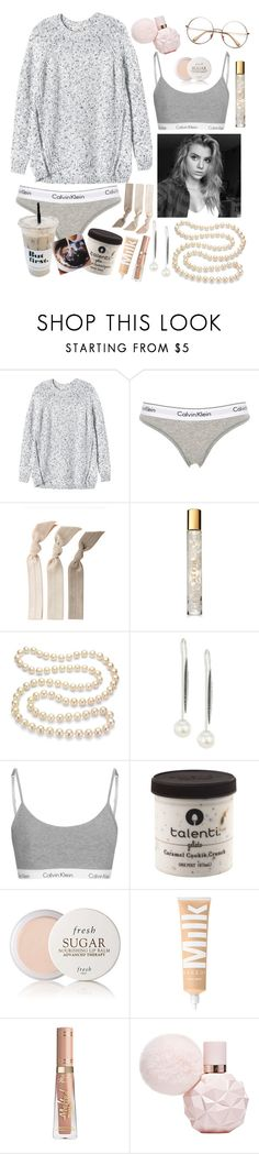 """⚪️~Pearls~⚪️"" by maris3456 ❤ liked on Polyvore featuring Rebecca Taylor, Calvin Klein Underwear, Emi-Jay, AERIN, DaVonna, Yoko London and Fresh"