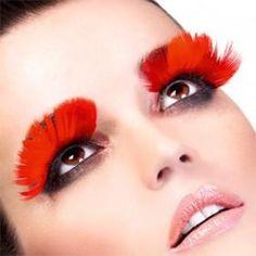 Handmade Exaggerated false eyelashes feather- type spots (300pcs/lot) at tradetang.com Feather Eyelashes, False Eyelashes, Exotic, Halloween Face Makeup, Eyes, Handmade, Beautiful, Fake Lashes, Hand Made