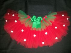 Strawberry tutu custom made up to a size 4t by CatyRoseBows, $25.00