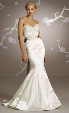 Lazaro trumpeted fishtail Wedding Gown| Mermaid Wedding Gown
