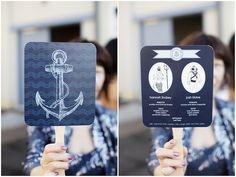 nautical wedding programs!