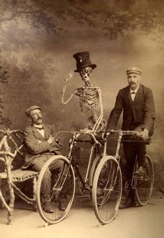 Cycling, old school.