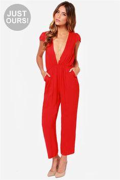 LULUS Exclusive Follow Suit Red Jumpsuit at Lulus.com!