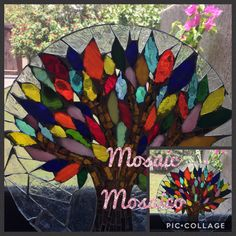 glass mosaic with glass