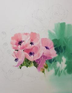 2017수업시연중에~~ : 네이버 블로그 Watercolor Art Lessons, Watercolor Art Paintings, Watercolor Flowers, Purple Iris, Video Pink, Botanical Art, Art Tutorials, Flower Art, Flower Power