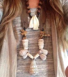 Twine and Twig Limited Luxe Shell and Tribe Necklaces twineandtwigstyle.com