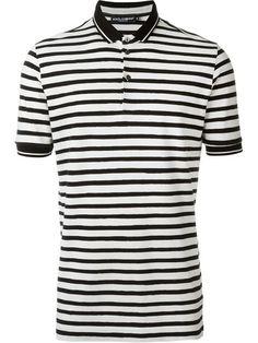 DOLCE & GABBANA Striped Polo Shirt. #dolcegabbana #cloth #shirt
