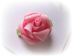 rose ribbon hair bow - Google Search