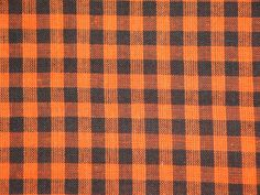 1/4 Check Homespun Fabric Orange And Black  by kittredgemercantile, $8.95