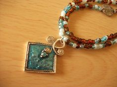 Turquoise and Chocolate Necklace by InspiredByKarma on Etsy, $20.00