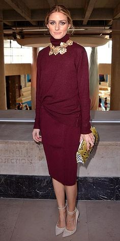 Olivia Palermo - Remember when everyone was wearing bling over their collared button-downs? Leave it to Olivia Palermo, Trendsetter Extraordinaire, to take the combo to the next level.