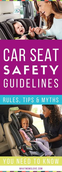 Car Seat Safety Guidelines | Cheat Sheet for what car seat to choose, when to turn your child from rear facing to forward facing, when to use a booster seat, where the chest clips and straps should be positioned and more facts and tips - great infographic for infants, toddlers and older kids #infographic #carseatsafety