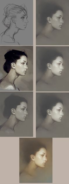 girl portrait step by step