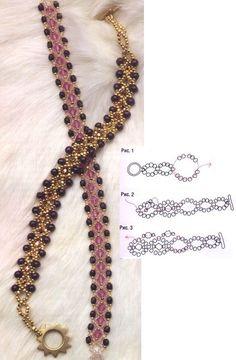 beaded bracelet and beads. scheme: