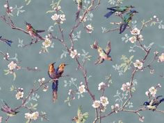 Striking wall paper, showing colourful birds and blossom, is being re-created for one of the conference rooms in Cardigan Castle's Regency Mansion.