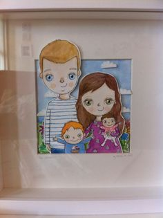 Custom illustrated portrait by Heidi M illustration painted in watercolours and inks