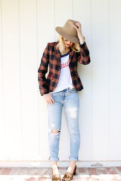 7 Ways to Wear a Plaid Jacket This Fall