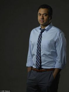 Parts offered: Kal Penn, an Indian-American actor currently starring on ABC's Designated Survivor, tweeted some old scripts on Tuesday to highlight racist stereotyping in Hollywood