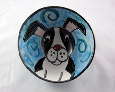 Small Ceramic Serving Bowl Boston Terrier by ClayLickCreekPottery, $25.00