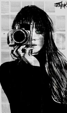 "Saatchi Online Artist: Loui Jover; Ink 2013 Drawing ""lens"""